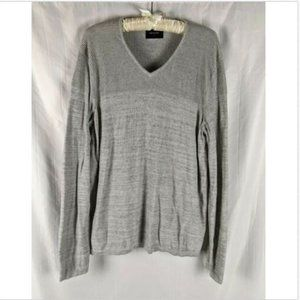 Calvin Klein Vneck Ribbed Knit Pullover Sweater